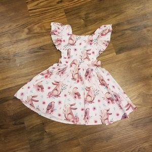 Bunny and bird romper dress